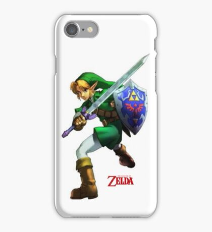 Zelda with Red Title White iPhone Case iPhone Case/Skin