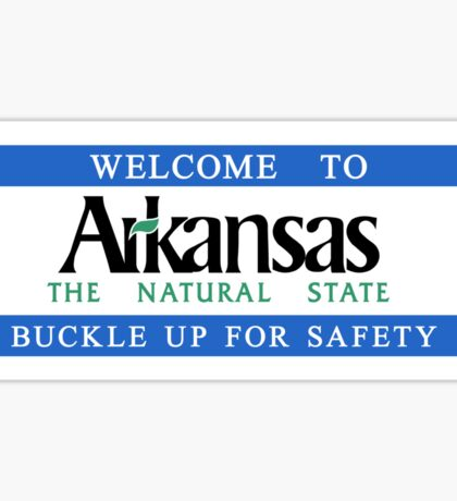 Welcome to Arkansas, Road Sign, USA Sticker