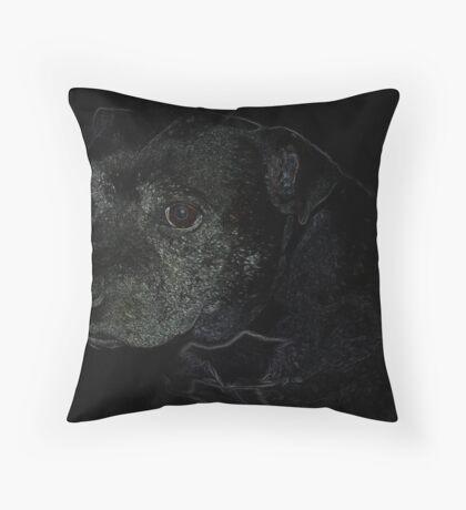 Staffordshire Bull Terrier, Portrait Throw Pillow
