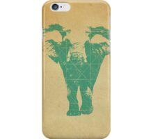 Elephant print  - vintage map iPhone Case/Skin