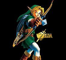 Zelda with Bow Black iPhone Case by TalkThatTalk