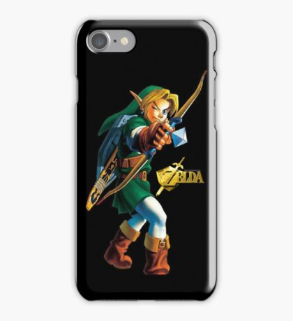 Zelda with Bow Black iPhone Case iPhone Case/Skin