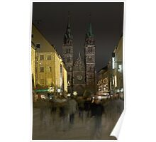 Nuremberg, Germany, at Christmas-time.  Poster