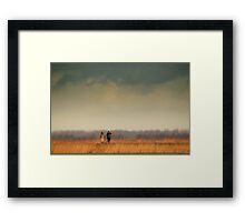 Man and the Biosphere Framed Print