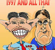 Tony Blair and John Prescott Caricatures  by Grant Wilson