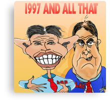 Tony Blair and John Prescott Caricatures  Canvas Print