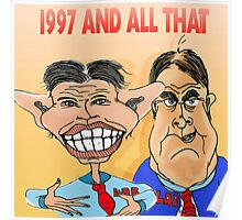 Tony Blair and John Prescott Caricatures  Poster
