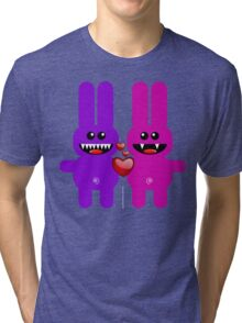 RABBIT LOVERS Tri-blend T-Shirt
