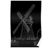 Upminster Windmill Essex England Black and white  Poster