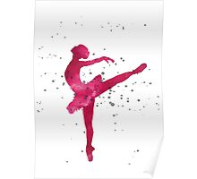 Pink ballerina nursery art print  Poster