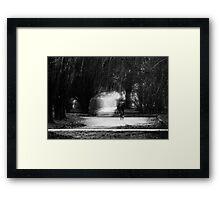 in pencil Framed Print