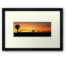 Sunrise above Melbourne CBD Framed Print