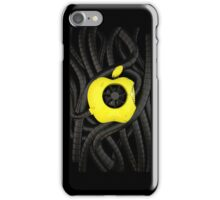 apple logo, worn paint , pipes and metal iPhone Case/Skin