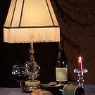 Wine Bottles Under Lamplight by FrankSchmidt