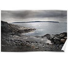 Rain at Jackfish Bay Poster