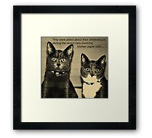 Guilty?  Framed Print