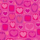 Cute Pink Hearts Pattern for iphone by jillhowarth