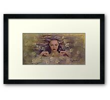 The voice of the thoughts Framed Print