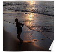 Caribbean Sunset Swim Poster