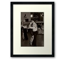 Girl with the Dancing Hair Framed Print