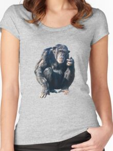 Chimpanzee Women's Fitted Scoop T-Shirt