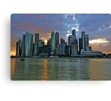 Singapore Skyline by the Bay Canvas Print