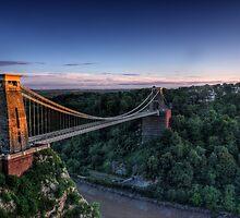 Clifton Suspension Bridge Glow by Tim Pursall