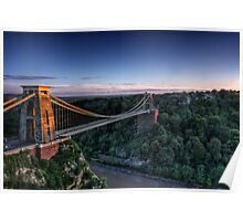Clifton Suspension Bridge Glow Poster