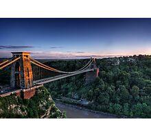 Clifton Suspension Bridge Glow Photographic Print