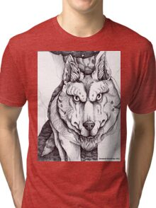The Big Bad Wolf (without text) Tri-blend T-Shirt