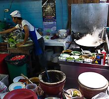 Preparing street food in Thailand 1 by faceart
