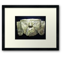 Golden Incan Mask Framed Print