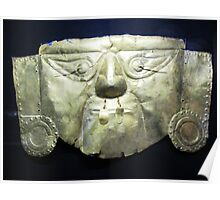 Golden Incan Mask Poster