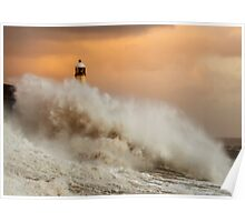 Porthcawl Lighthouse Poster