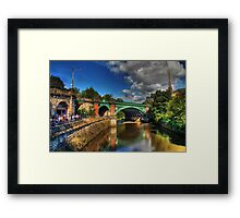 River Kelvin At Kelvin Bridge Framed Print