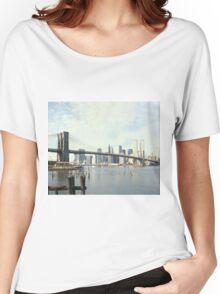 Brooklyn Bridge and Manhattan Photograph Women's Relaxed Fit T-Shirt