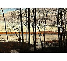 Winter Sunset at Mill Pond  Photographic Print