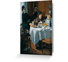 The Luncheon - Claude Monet - 1868 Greeting Card
