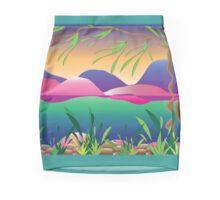 The silent lake illustration Mini Skirt