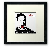 Robin Williams Tongie Art Framed Print