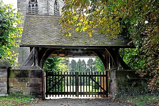 Lychgate to St Paul's Church, Scropton  by Rod Johnson