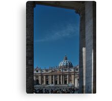 View Of St Peter's  Canvas Print