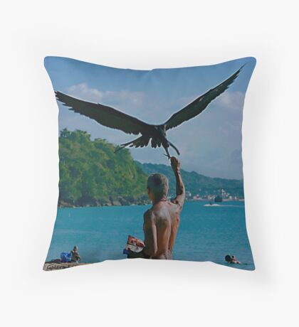 The Man and the Seabirds 6 Throw Pillow
