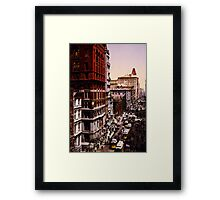 Vintage Broadway NYC Photo-Print (1900) Framed Print