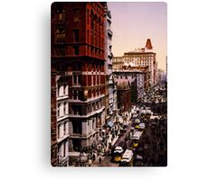 Vintage Broadway NYC Photo-Print (1900) Canvas Print