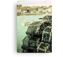 Lobster pots Canvas Print