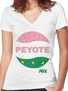 PEYOTE max Women's Fitted V-Neck T-Shirt