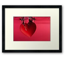 Heart Falling into Water Framed Print