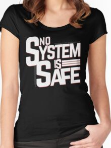 No System is Safe Women's Fitted Scoop T-Shirt