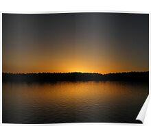 Lake Albert Sunset Poster